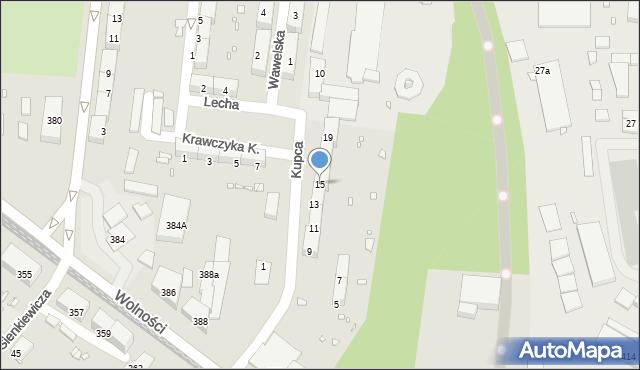 Zabrze, Kupca Jana, 15, mapa Zabrza