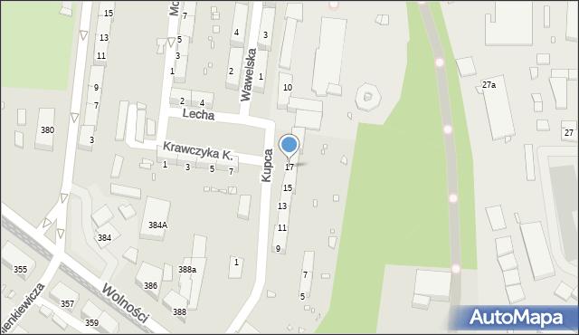 Zabrze, Kupca Jana, 17, mapa Zabrza