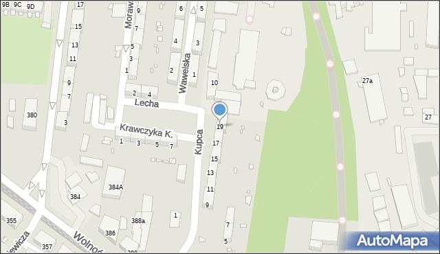 Zabrze, Kupca Jana, 19, mapa Zabrza