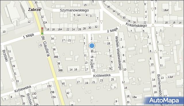 Zabrze, Kupki Zygfryda, 12, mapa Zabrza