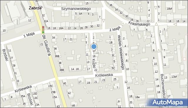 Zabrze, Kupki Zygfryda, 14, mapa Zabrza