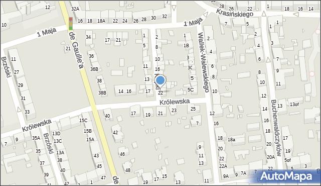 Zabrze, Kupki Zygfryda, 22, mapa Zabrza