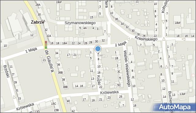 Zabrze, Kupki Zygfryda, 6, mapa Zabrza