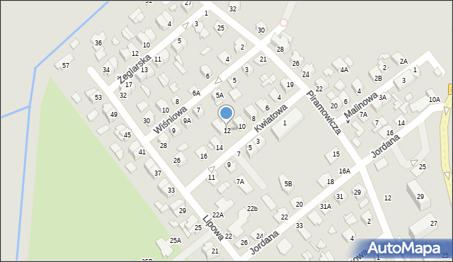 Chełm, Kwiatowa, 12, mapa Chełma