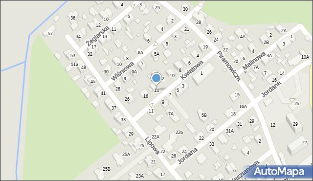 Chełm, Kwiatowa, 14, mapa Chełma