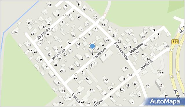 Chełm, Kwiatowa, 8, mapa Chełma