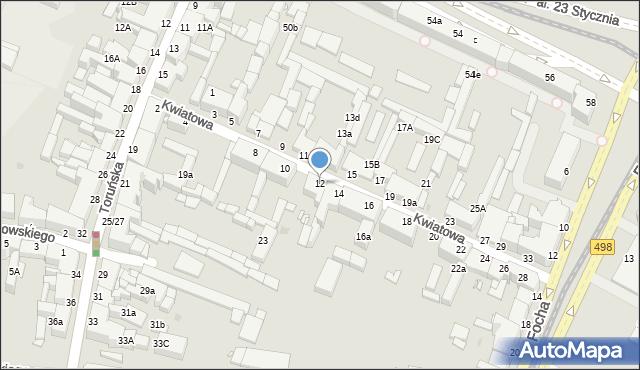Grudziądz, Kwiatowa, 12, mapa Grudziądza