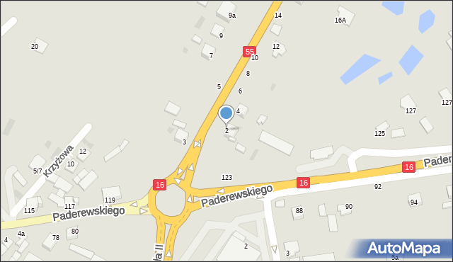 Grudziądz, Kwidzyńska, 2, mapa Grudziądza