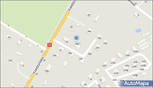 Grudziądz, Kwidzyńska, 24a, mapa Grudziądza