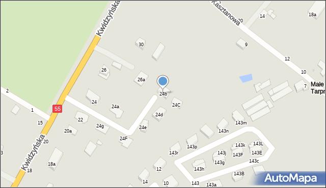 Grudziądz, Kwidzyńska, 24b, mapa Grudziądza