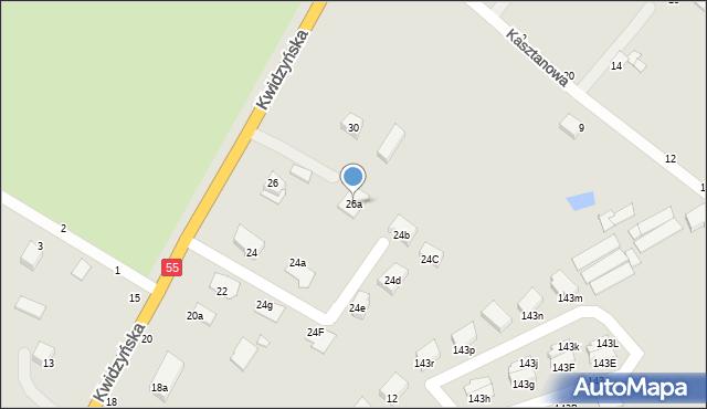 Grudziądz, Kwidzyńska, 26a, mapa Grudziądza