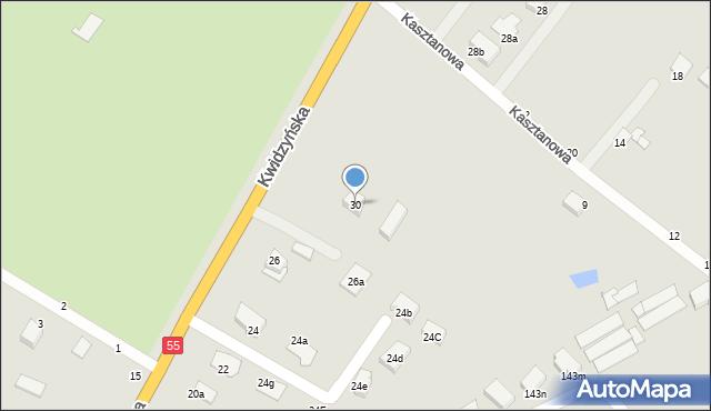 Grudziądz, Kwidzyńska, 30, mapa Grudziądza