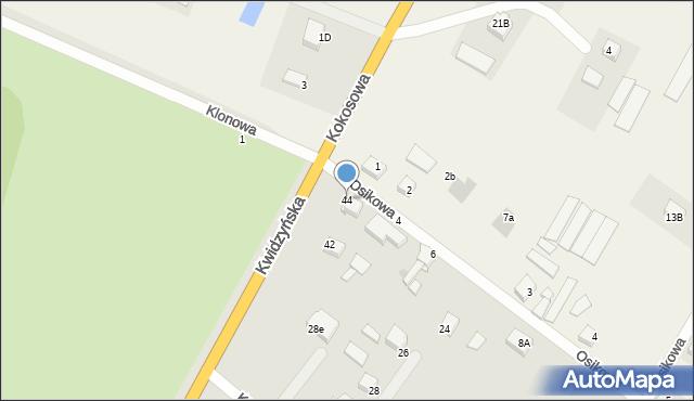 Grudziądz, Kwidzyńska, 44, mapa Grudziądza