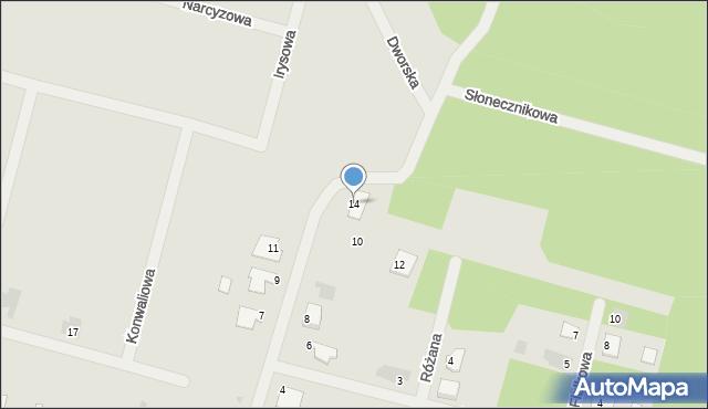 Lubaczów, Kwiatowa, 14, mapa Lubaczów