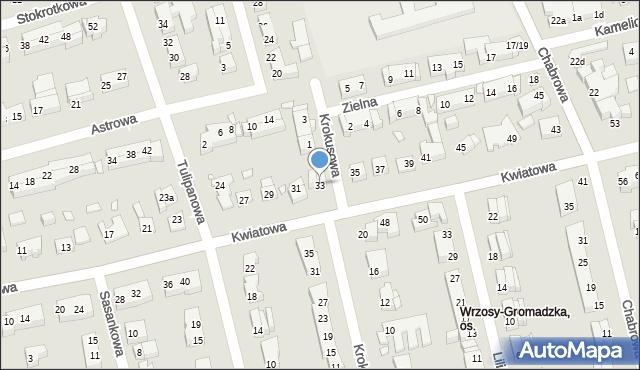 Toruń, Kwiatowa, 33, mapa Torunia