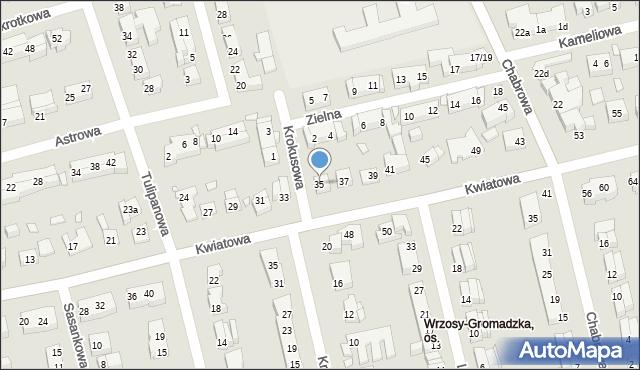 Toruń, Kwiatowa, 35, mapa Torunia