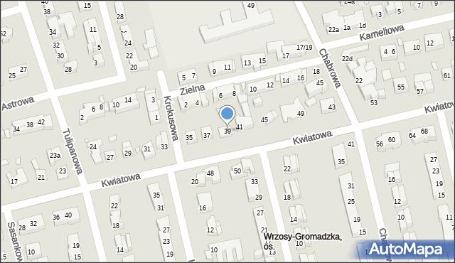 Toruń, Kwiatowa, 39, mapa Torunia