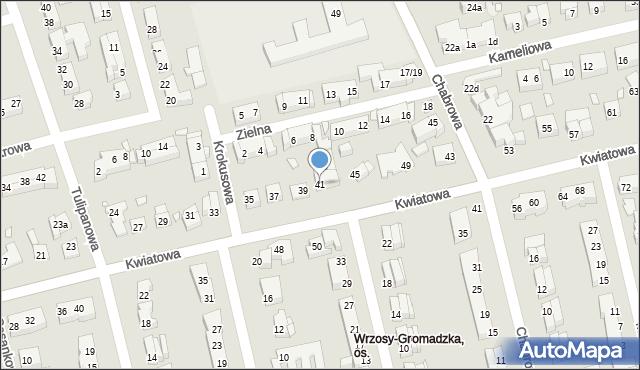 Toruń, Kwiatowa, 41, mapa Torunia