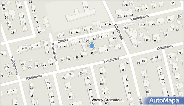 Toruń, Kwiatowa, 45, mapa Torunia