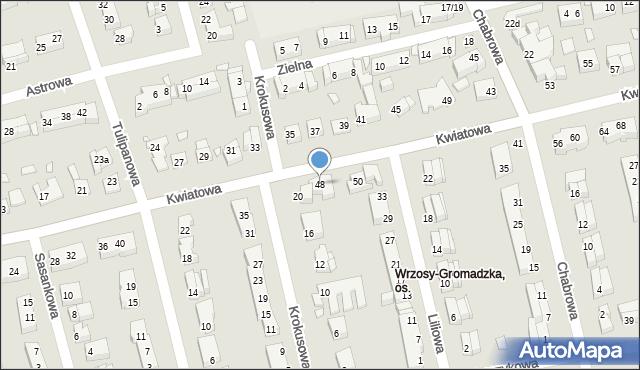 Toruń, Kwiatowa, 48, mapa Torunia