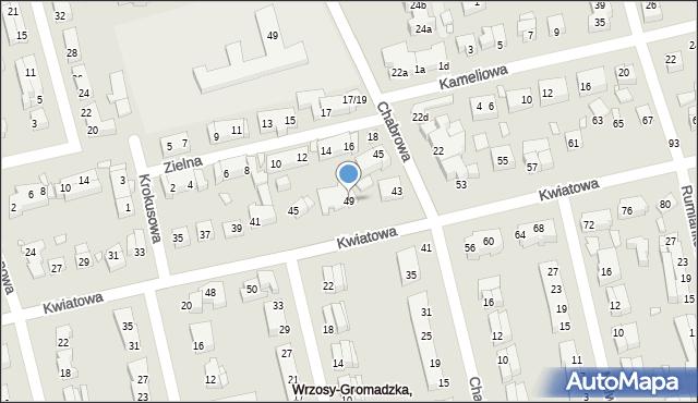 Toruń, Kwiatowa, 49, mapa Torunia