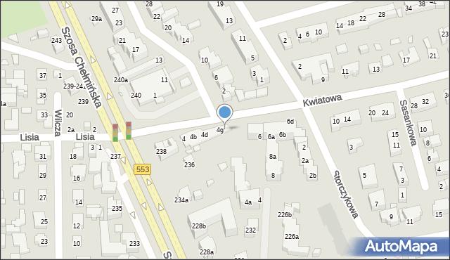 Toruń, Kwiatowa, 4h, mapa Torunia