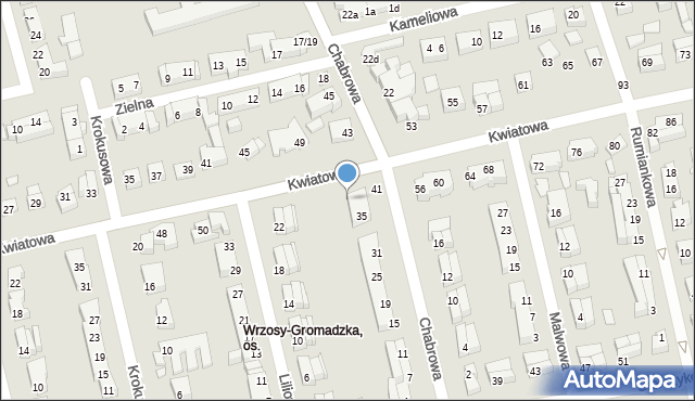 Toruń, Kwiatowa, 54, mapa Torunia