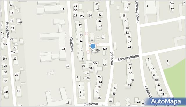 Toruń, Kwitnącej Jabłoni, 1a, mapa Torunia