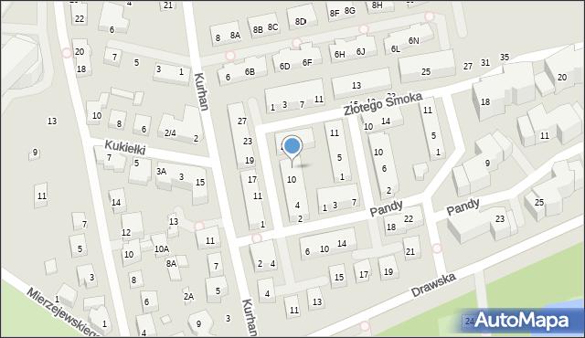 Warszawa, Kwitnącego Sadu, 12, mapa Warszawy