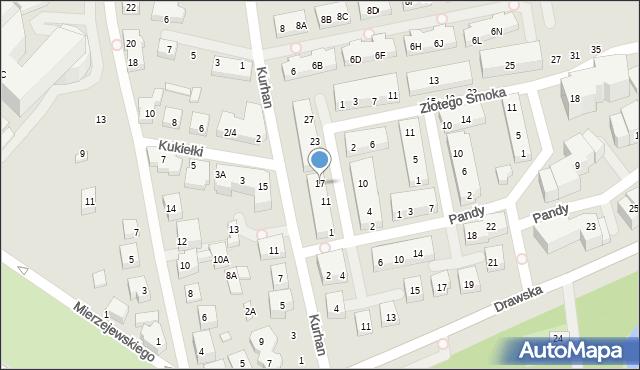 Warszawa, Kwitnącego Sadu, 17, mapa Warszawy