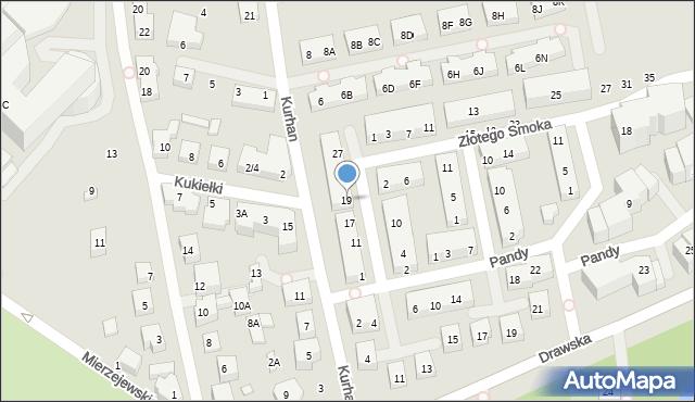 Warszawa, Kwitnącego Sadu, 19, mapa Warszawy
