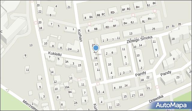 Warszawa, Kwitnącego Sadu, 21, mapa Warszawy