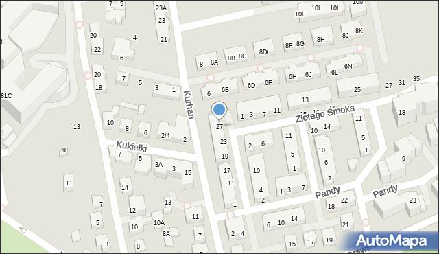 Warszawa, Kwitnącego Sadu, 27, mapa Warszawy