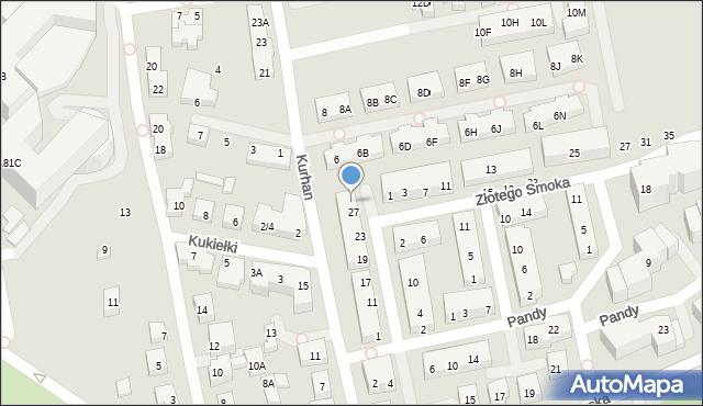 Warszawa, Kwitnącego Sadu, 29, mapa Warszawy