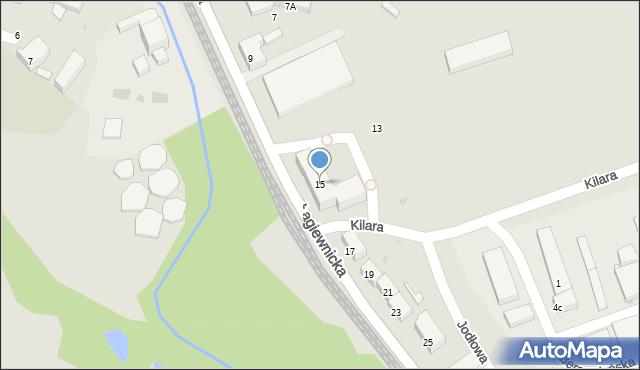 Bytom, Łagiewnicka, 15, mapa Bytomia