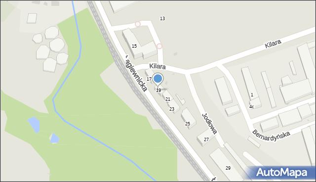 Bytom, Łagiewnicka, 19, mapa Bytomia