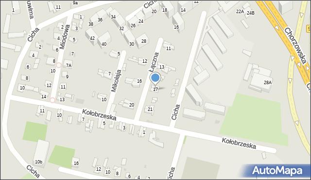 Bytom, Łączna, 17, mapa Bytomia