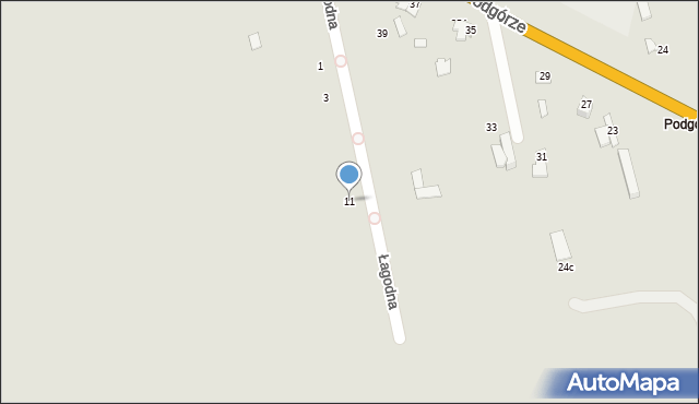 Chełm, Łagodna, 11, mapa Chełma