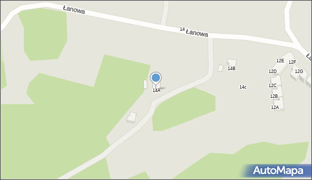 Gdynia, Łanowa, 14A, mapa Gdyni