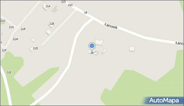 Gdynia, Łanowa, 20, mapa Gdyni