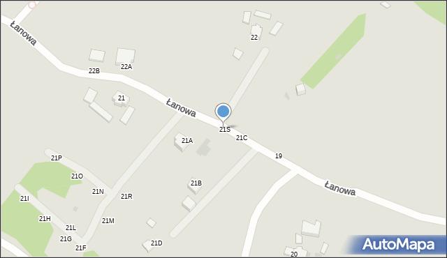 Gdynia, Łanowa, 21S, mapa Gdyni