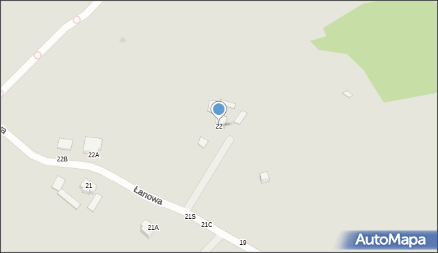 Gdynia, Łanowa, 22, mapa Gdyni