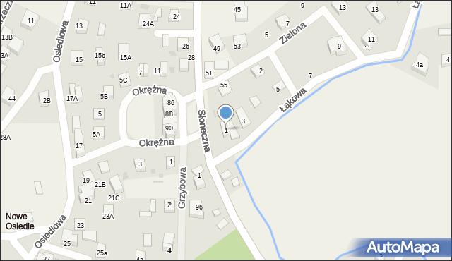Gościcino, Łąkowa, 1, mapa Gościcino