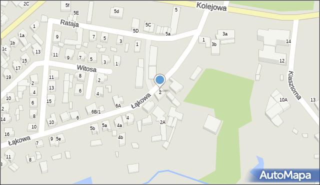 Grabów nad Prosną, Łąkowa, 2, mapa Grabów nad Prosną