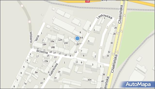 Grudziądz, Laskowicka, 10, mapa Grudziądza