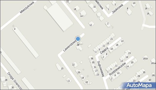 Grudziądz, Lawendowa, 28, mapa Grudziądza