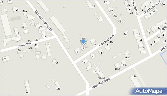 Grudziądz, Lawendowa, 3, mapa Grudziądza