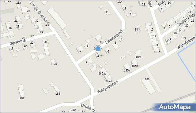 Grudziądz, Lawendowa, 4, mapa Grudziądza