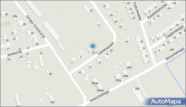 Grudziądz, Lawendowa, 5, mapa Grudziądza