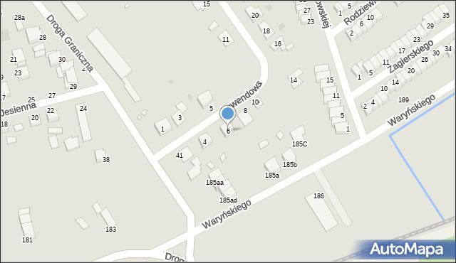 Grudziądz, Lawendowa, 6, mapa Grudziądza